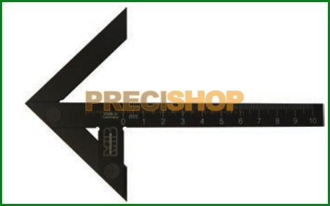 MIB 03044022 Precíziós központjelölő; Edzett feketített alumínium; szárhossz 200mm
