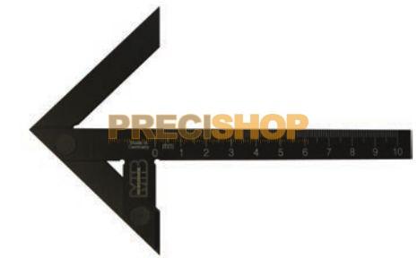 MIB 03044026 Precíziós központjelölő; Edzett feketített alumínium; szárhossz 500mm