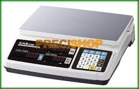 CAS PR-30B 30 kg/10 g lapos, hiteles árszorzós mérleg