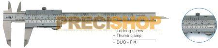 DUO-FIX Nóniuszos tolómérő tolómérő 0-150/0,05mm helios-Preisser 0190501