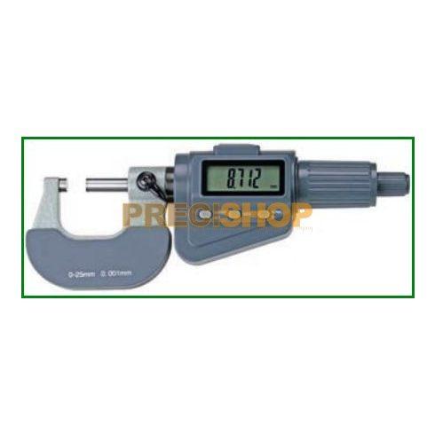 MIB 02030020 Digitális mikrométer Frikciós forgódobbal, 0-25mm