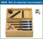 Kengyeles mikrométer készlet Helios - Preisser, 0806540, 0-100/0,01mm