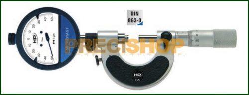 Mérőórás Mikrométer,Passzaméter  25-50mm Preisser  0850512