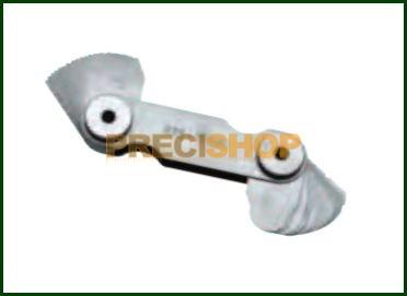 Rádiusz-sablon készlet 1-7mm  17db  Normál acél HOREX 2616166