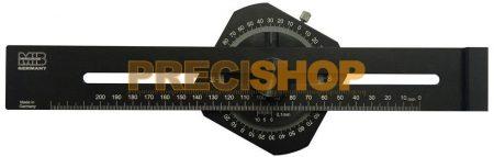 MIB 45057026 Jelölő vonalzó szögmérővel 250 mm