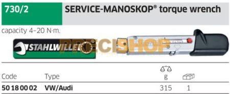 Stahlwille  730/2  MANOSKOP® Nyomatékkulcs 4-20/0,5Nm (Rátűzőfejes)