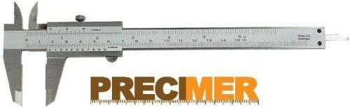 MIB 01001043 Tolómérő csavar rögzítős 200 mm / 0,02 DIN 862 INOX