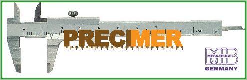 MIB 01004008 Tolómérő 100 mm, Rozsdamentes, edzett, csavaros rögzítővel