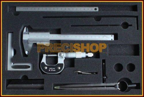 MIB 01005038 Mérőeszköz készlet, 6 részes  mechanikus tolómérővel