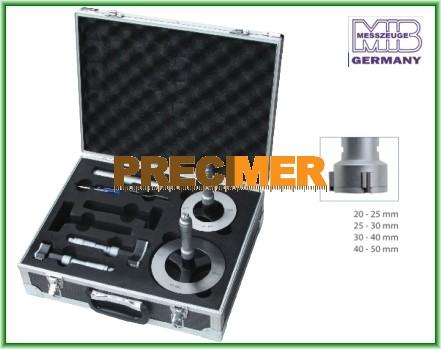 MIB 01022136 Hárompontos furatmikrométer készlet 20-50 mm