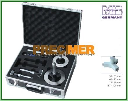 MIB 01022137 Hárompontos furatmikrométer készlet 50-100 mm