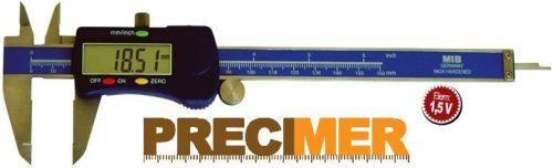 MIB 02026006  Digitális tolómérő, műanyag házas,150 mm / 0,01  DIN 862