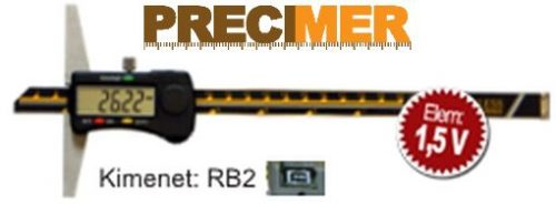 MIB 02026011 Digitális rozsdamentes mélységmérő 150 mm / 0,01  DIN 862