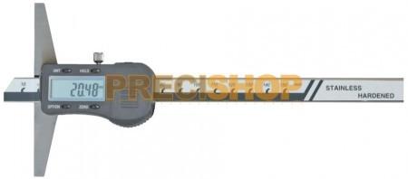 MIB 02026012 Digitális rozsdamentes mélységmérő 200 mm / 0,01 DIN 862