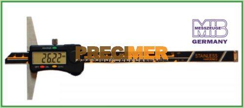 MIB 02026013 Digitális rozsdamentes mélységmérő 300 mm / 0,01 DIN 862, 42026013