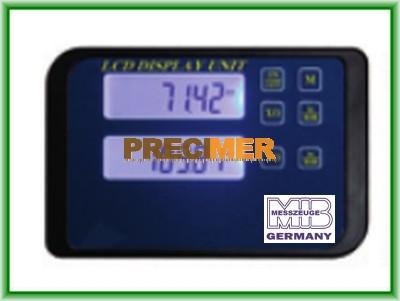 MIB 02026272 Digitális kijelző egypofás tolómérőhöz, 2-soros RB5 adatkimenettel