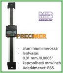 MIB 02026291 Digitális egypofás tolómérő 150 mm, Függőleges kivitel ,alumínium mérőszár