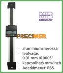 MIB 02026292 Digitális egypofás tolómérő 200 mm, Függőleges kivitel ,alumínium mérőszár