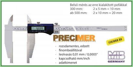 MIB 02027016 Digitális Műhely tolómérő, 0-1000/0,01mm