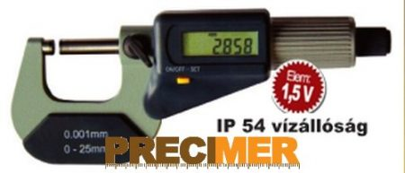MIB 02029090 Digitális Mikrométer, 0-25/0,001mm  IP54
