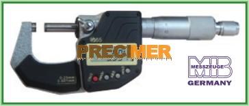 MIB 02029102 Digitális Mikrométer, 50-75/0,001mm IP 65, DIN 863, ABS