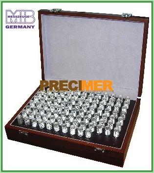 MIB 06061016 Mérőcsap készlet, 7,01 - 8,00 mm ± 0,004 mm, 46061016