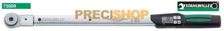 Nyomatékkulcs Stahlwille  730DR/100  MANOSKOP®  Digitális Nyomatékkulcs 100-1000/0,1Nm (Rátűzőfejes, kattanó )