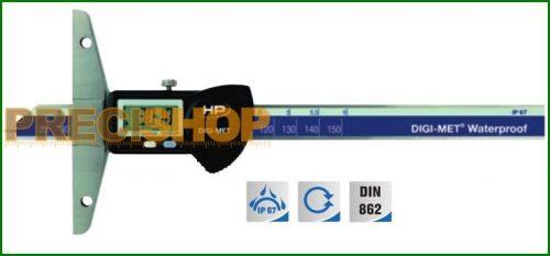 Preisser Digitális mélységmérő IP67 védettséggel 1371416