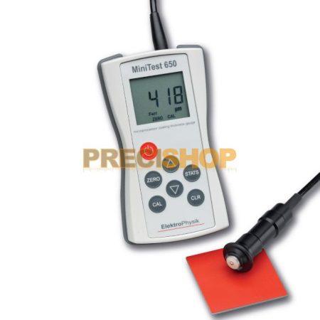MiniTest 650 FN digitális felületi rétegvastagságmérő műszer külső szondával Elektrophysik
