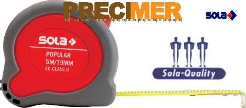 SOLA Popular Mérőszalag 5m PP-5 (19mm)
