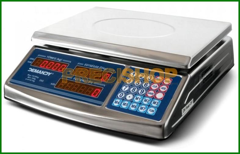 Image of ACS 768 hitelesített, árszorzós, lapos bolti mérleg 15/30 kg, 5/10 g