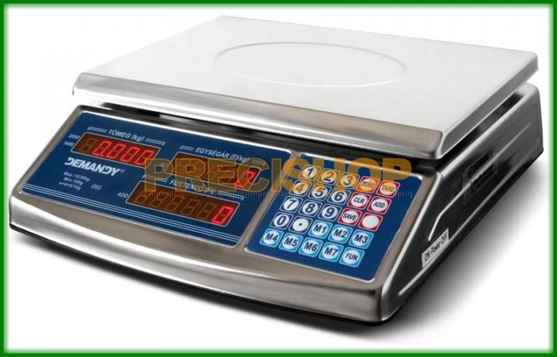 Image of ACS 768 hitelesített, árszorzós, lapos bolti mérleg 6/15 kg 2/5 g